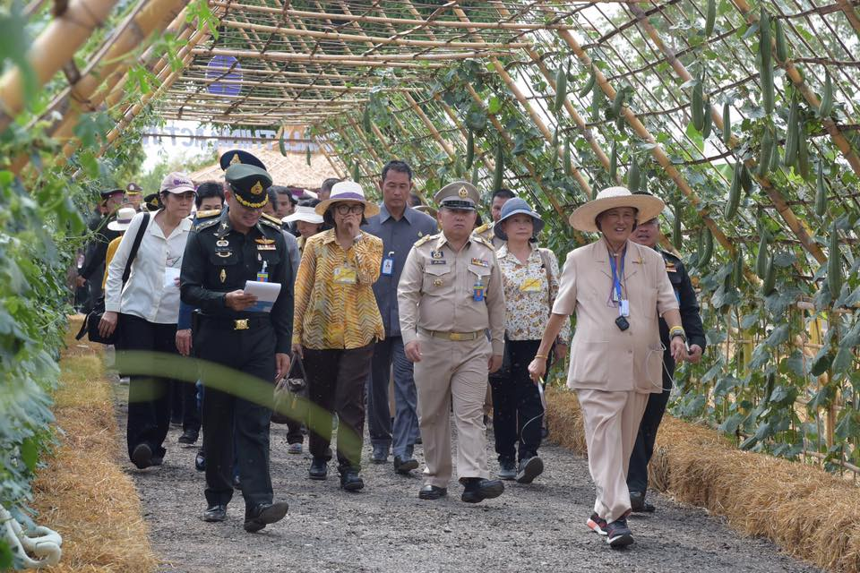 "On Wednesday 15th May 2019, Her Royal Highness Princess Maha Chakri Sirindhorn paid a royal visit to ""Tahan Pan Dee"" (Good Soldiers) Project at Hunter Soldiers Division 32 in Fai Kaeo Subdistrict, PhuPhiang District, Nan Province."